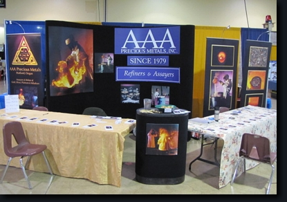 AAA Precious Metals display booth at the GPAA show